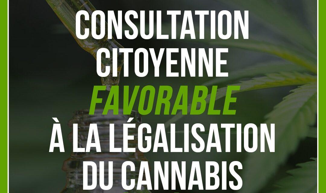 Consultation citoyenne : Les répondants en faveur de la légalisation du cannabis ?