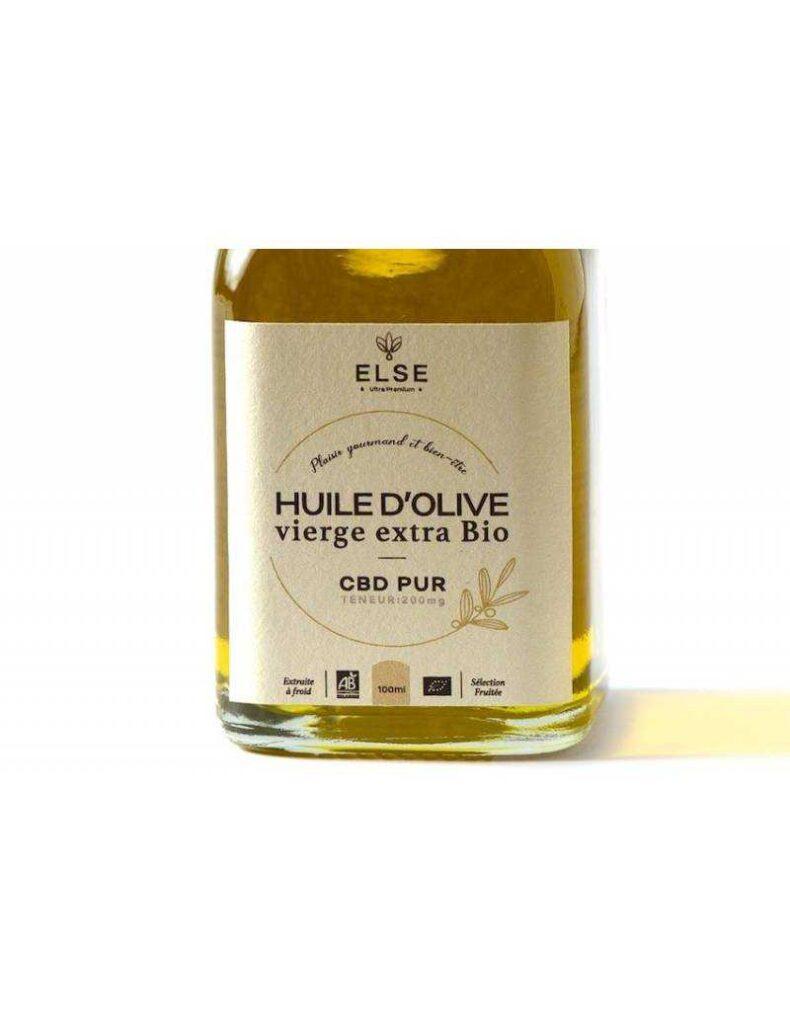 Huile d'olive vierge extra Bio au CBD - Basilic (100ml)