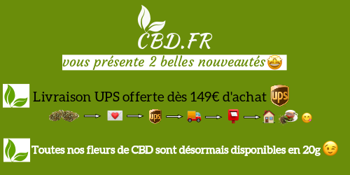 le 18-4-2020 cat FLEURS et sous cat Fleurs CBD Chanvre sur cbd.fr
